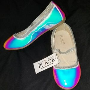The children's place holographic ballet flats